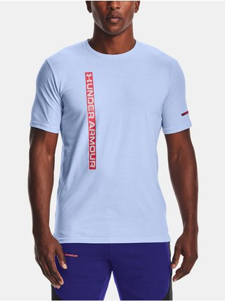 Tričko Under Armour UA VERTICAL WORDMARK SS-BLU