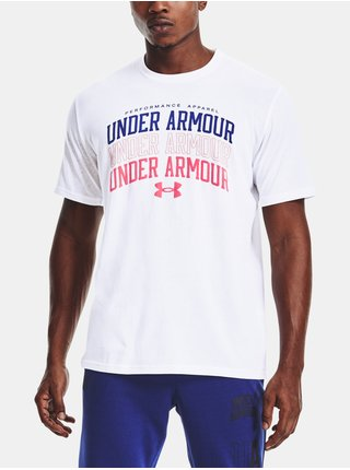 Tričko Under Armour UA MULTI COLOR COLLEGIATE SS-WHT