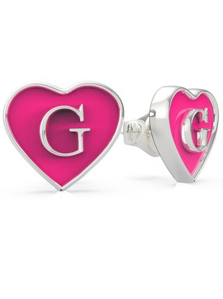 Guess růžové náušnice Golden Hour