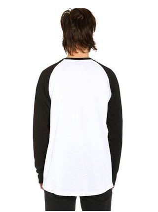 Horsefeathers CORNICK white pánské triko s dlouhým rukávem