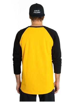 Horsefeathers CORNICK CITRUS pánské triko s dlouhým rukávem - černá