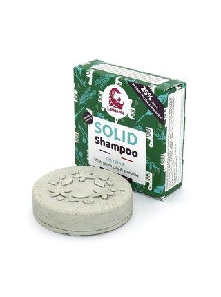 Lamazuna Tuhý šampon pro mastné vlasy se zeleným jílem a spirulinou (70 g)