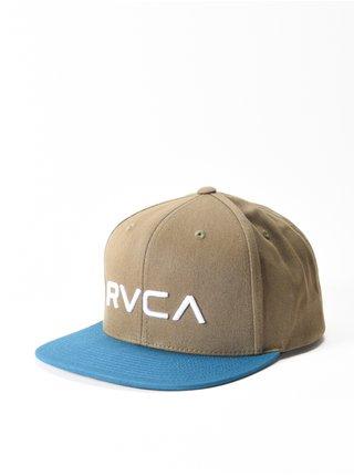 RVCA TWILL OLIVE TEAL kšiltovka s rovným kšiltem