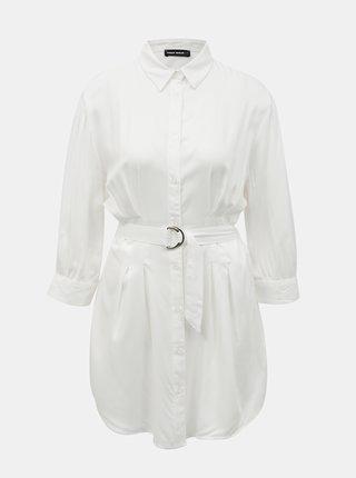 Bílé košilové šaty s páskem TALLY WEiJL