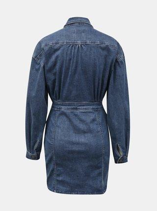 Modré rifľové košilové šaty s vreckami TALLY WEiJL