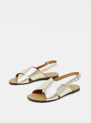 Dámske kožené sandále v zlatej farbe Vagabond