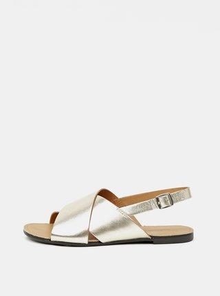 Dámské kožené sandály ve zlaté barvě Vagabond