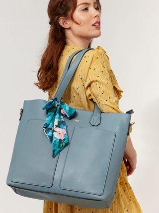 Svetlomodrá kabelka s púzdrom a ozdobnou šatkou Bessie London