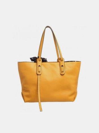 Horčicová kabelka s púzdrom a ozdobnou šatkou Bessie London
