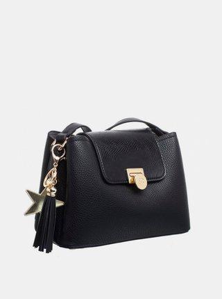 Černá crossbody kabelka s ozdobnou třásní Bessie London