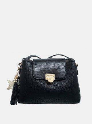 Čierna crossbody kabelka s ozdobným strapcom Bessie London