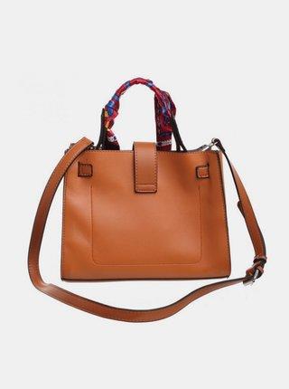 Hnedá kabelka s ozdobnou šatkou Bessie London