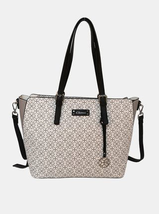 Biela vzorovaná kabelka Gionni