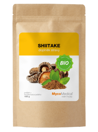 Mycomedica Shiitake prášek BIO 100g