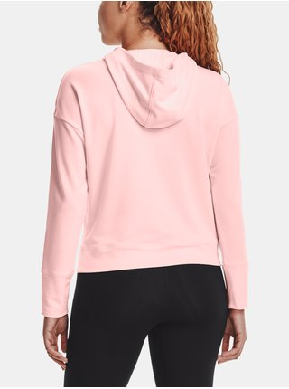 Mikina Under Armour Rival Terry Taped Hoodie - růžová