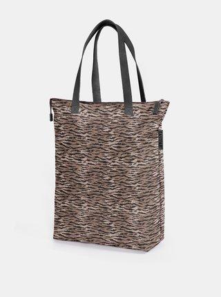 Hnědá vzorovaná taška Eastpak