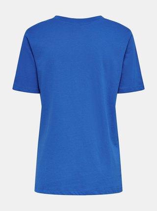 Modré tričko s potiskem Jacqueline de Yong Mille