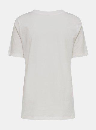 Bílé tričko s potiskem Jacqueline de Yong Mille