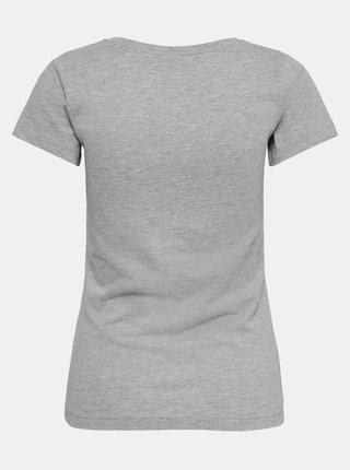 Šedé tričko s nápisem Jacqueline de Yong Chicago