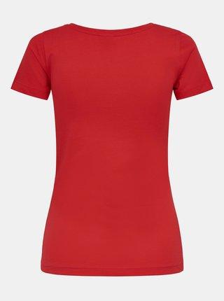 Červené tričko s nápisem Jacqueline de Yong Chicago