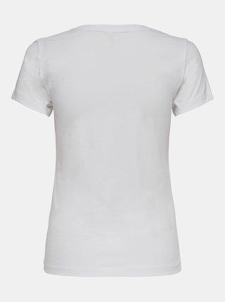 Bílé tričko s potiskem ONLY Lala