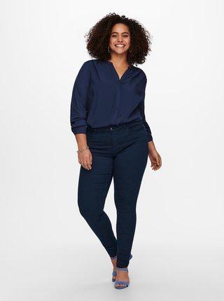 Tmavě modré skinny fit kalhoty ONLY CARMAKOMA Sarah