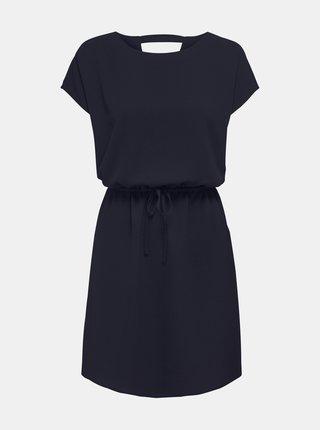 Tmavě modré šaty se zavazováním ONLY Nova