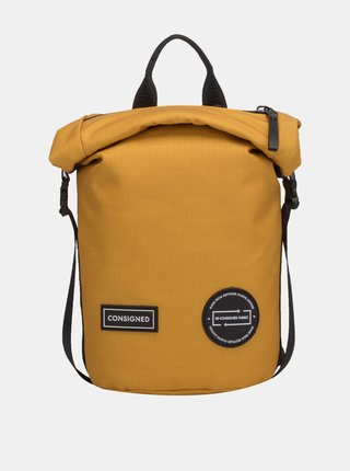 Hořčicový batoh/taška přes rameno Consigned