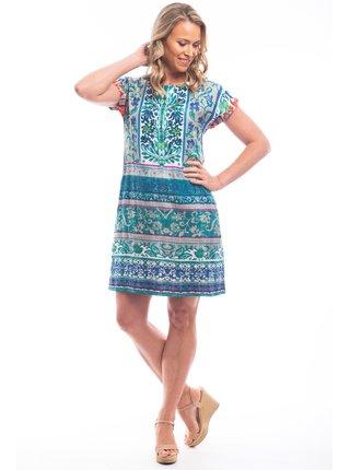 Orientique letní šaty Ibiza Green se vzory