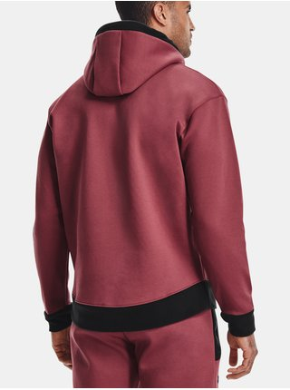 Mikina Under Armour Recover Fleece Hoodie-RED