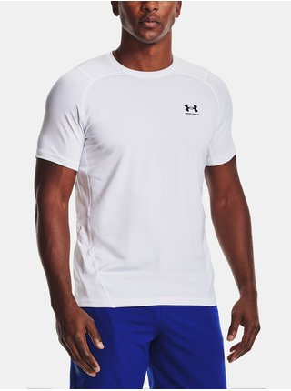 Tričko Under Armour HG Armour Fitted SS - bílá