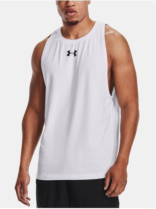 Tílko Under Armour BASELINE COTTON TANK - bílá