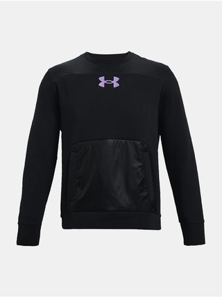 Mikina Under Armour UA SUMMIT KNIT CREW-BLK