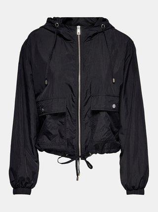 Černá lehká bunda s kapucí Jacqueline de Yong Anni
