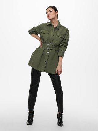 Zelená lehká bunda s páskem ONLY Milla
