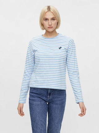 Modré pruhované tričko Pieces Gwen
