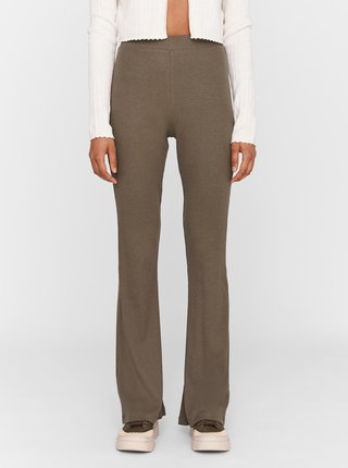 Khaki flared fit kalhoty Noisy May Pasa