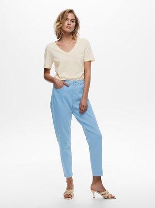 Modré zkrácené mom džíny ONLY Veneda