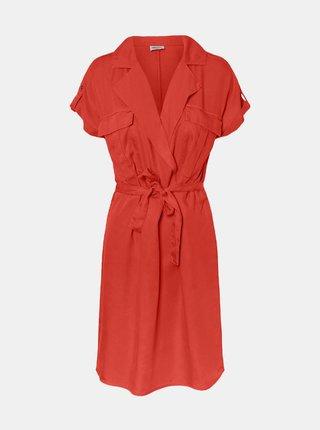 Oranžové šaty so zaväzovaním Noisy May Vera