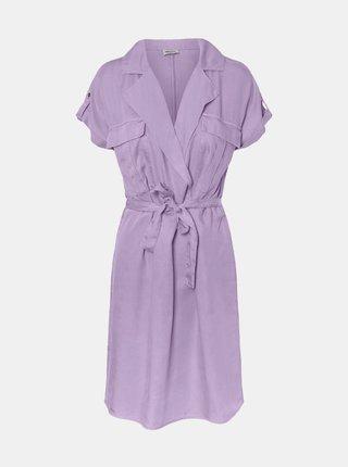 Fialové šaty se zavazováním Noisy May Vera