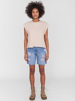 Béžové volné tričko Noisy May Daphni