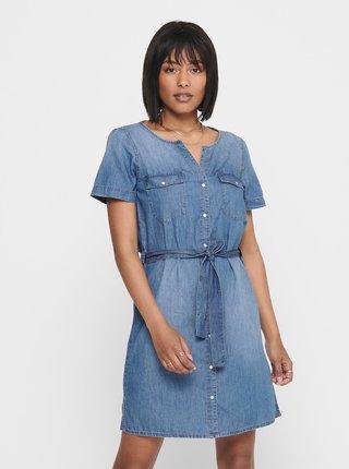 Modré džínové košilové šaty Jacqueline de Yong Saint