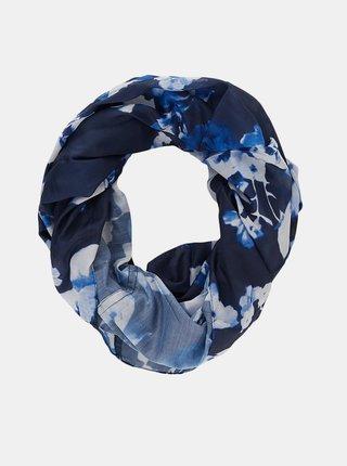 Modrý květovaný šátek Pieces Avola
