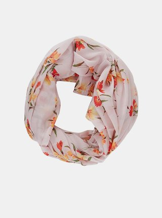 Růžový květovaný šátek Pieces Avola