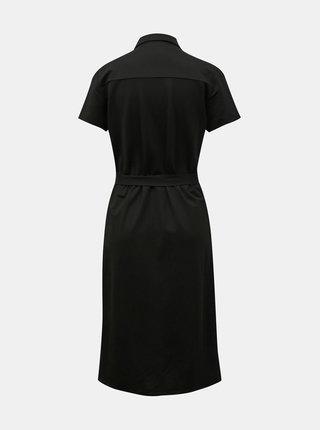 Čierne košeľové šaty so zaväzovaním VILA Safina