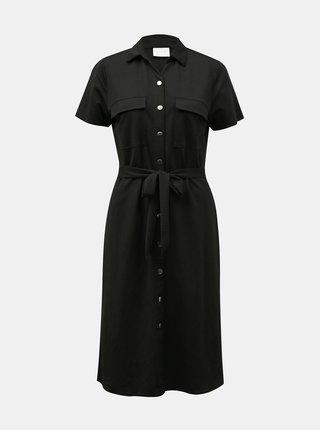 Černé košilové šaty se zavazováním VILA Safina