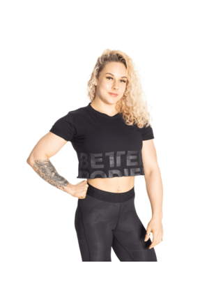 Tričko Better Bodies Astoria Cropped Tee Black