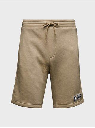 Béžové pánské kraťasy GAP Logo new arch shorts
