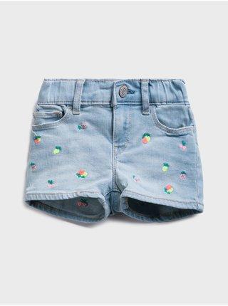 Modré holčičí dětské kraťasy shortie fruit embled