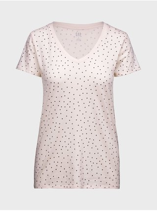 Růžové dámské tričko favorite print t-shirt